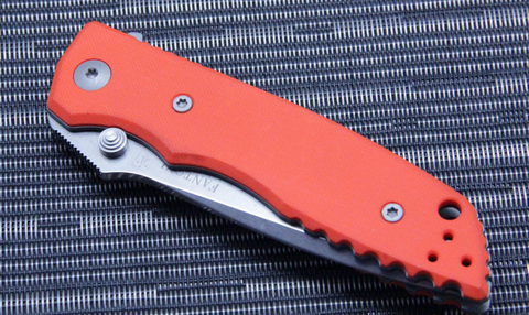 Нож складной Fantoni, HB01, William (Bill) Harsey Design-2, FAN/HB01SwOr, сталь CPM-S30V, рукоять стеклотекстолит G-10. Вид 8