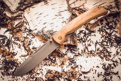Складной нож Бродяга, сталь 95х18, орех