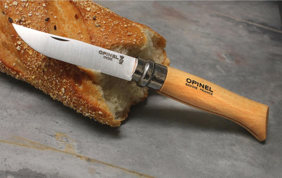 Фото 11 - Складной Нож Opinel Stainless steel №8, нержавеющая сталь Sandvik 12C27, бук, 123080