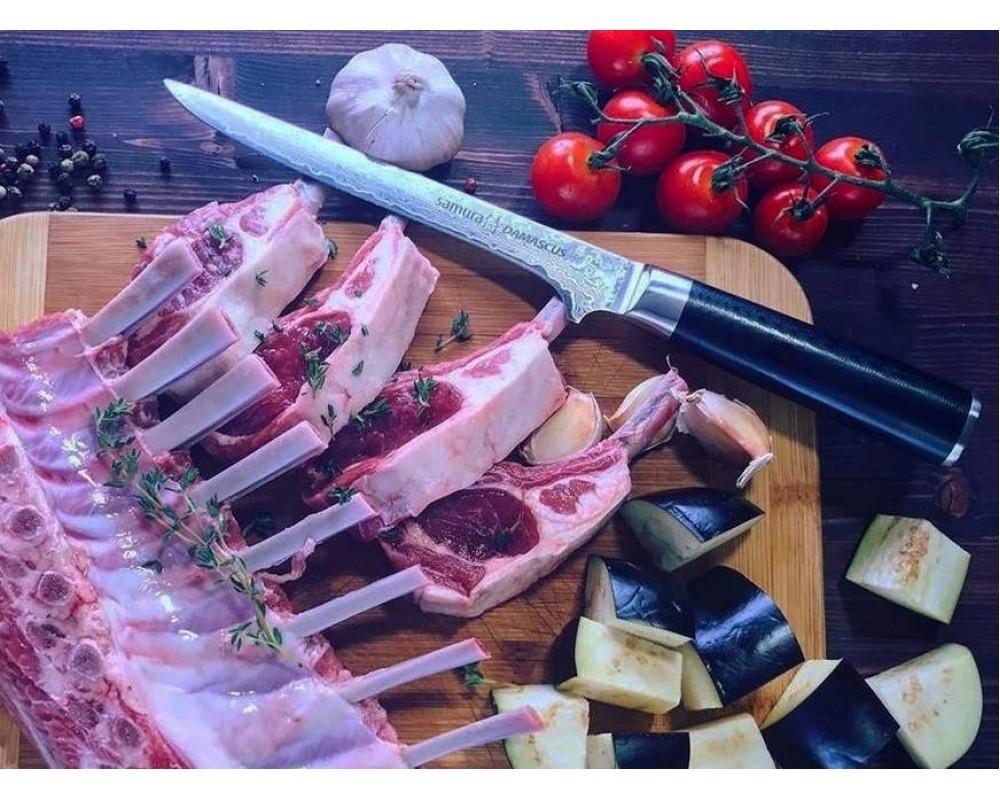 Фото 7 - Нож кухонный обвалочный Samura Damascus SD-0063/Y, сталь VG-10/дамаск, рукоять стеклотекстолит