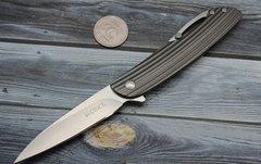 Складной нож CRKT Swindle™, сталь 12C27 Sandvik, рукоять нержавеющая сталь, фото 9