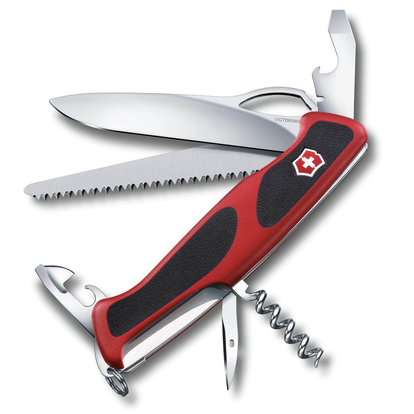 Нож перочинный Victorinox RangerGrip 79 0.9563.MC 130мм 12 функций красно-чёрный