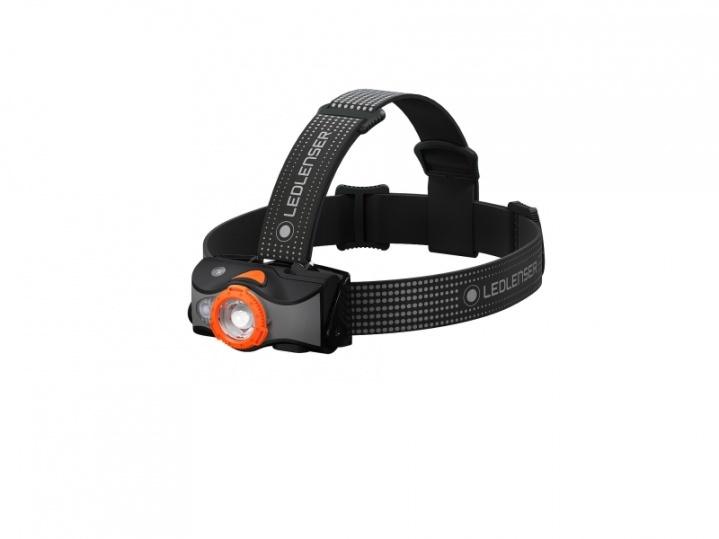 Фонарь светодиодный налобный LED Lenser MH7, черно-оранжевый, 600 лм