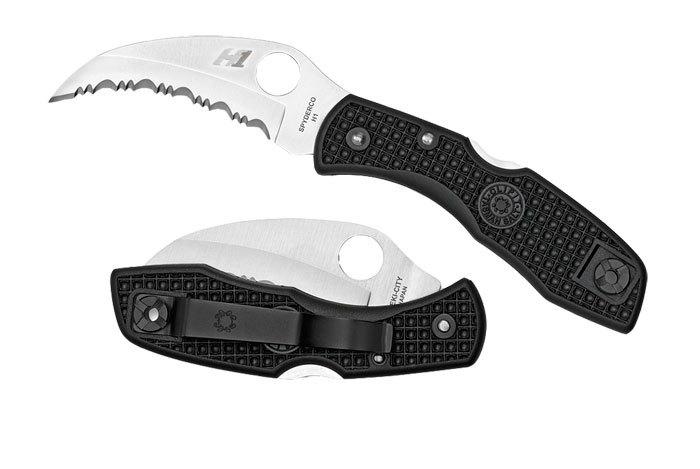 Фото 2 - Нож складной Tasman Salt™ Spyderco 106SBK, сталь H1 Satin Plain, рукоять термопластик FRN, чёрный