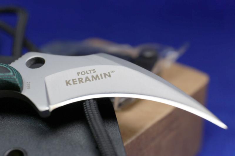 Фото 10 - Нож с фиксированным клинком CRKT Keramin, сталь 5Cr15MoV, рукоять микарта