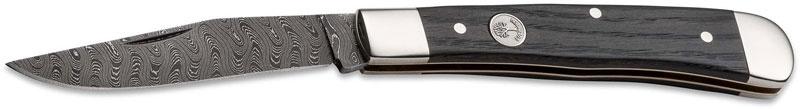 Фото 3 - Складной нож Boker Trapper Classic Damast 112545DAM, дамасская сталь, рукоять дерево