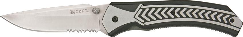 Фото 6 - Полуавтоматический складной нож Lift Off Veff Serrations™, сталь AUS-8 Combo Edge, рукоять термопластик Zytel®/сталь от CRKT