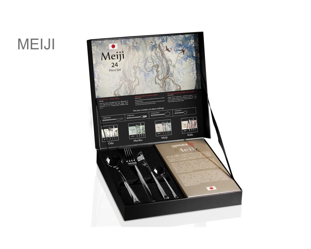 Набор столовых приборов (24 предмета) Samura Meiji, легированная нержавеющая сталь 18/10 meiji amino collagen