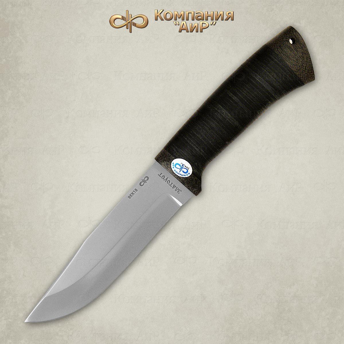 Фото 3 - Нож Турист, кожа, 95х18 от АиР