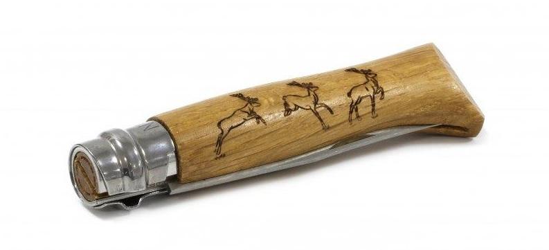 Фото 10 - Набор ножей складных Opinel №8 VRI Animalia из 6 штук, сталь Sandvik 12C27, рукоять дуб, 001637