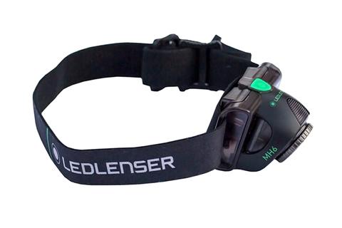 Фонарь светодиодный налобный LED Lenser MH6, черный, 200 лм, аккумулятор. Вид 7