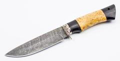 Нож Ладья, сталь дамаск, рукоять карельская береза, фото 2