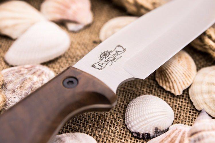 Фото 9 - Нож Fortuna AUS-8 SW, орех, Kizlyar Supreme