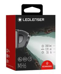 Фонарь светодиодный налобный LED Lenser MH6, черный, 200 лм, аккумулятор, фото 8