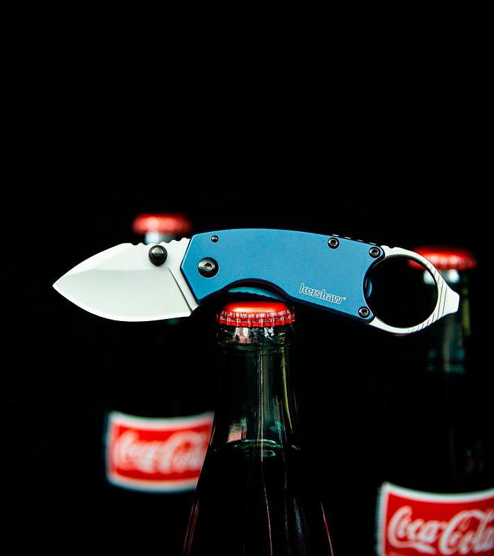 Фото 2 - Нож складной Antic - Kershaw 8710, сталь 8Cr13MoV, рукоять нержавеющая сталь, синий