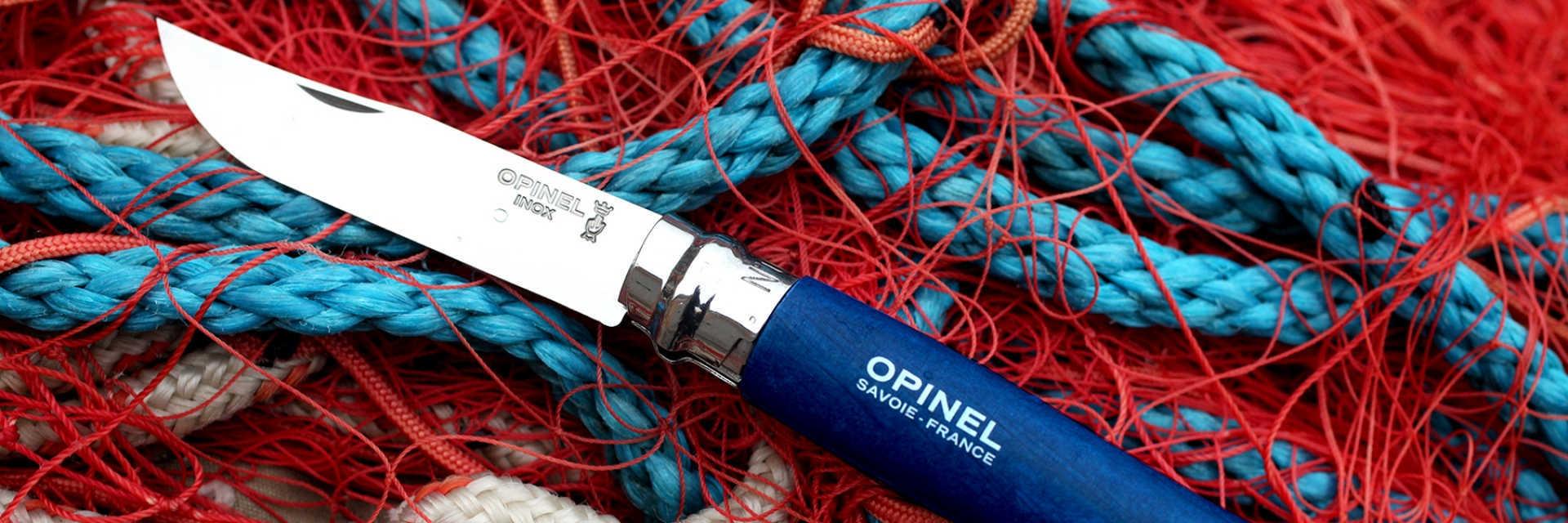 Фото 2 - Нож Opinel №8 Trekking, нержавеющая сталь, синий, с чехлом