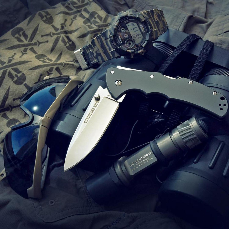Фото 4 - Складной нож Code-4 Spear Point - Cold Steel 58PS, сталь CPM-S35VN, рукоять алюминий