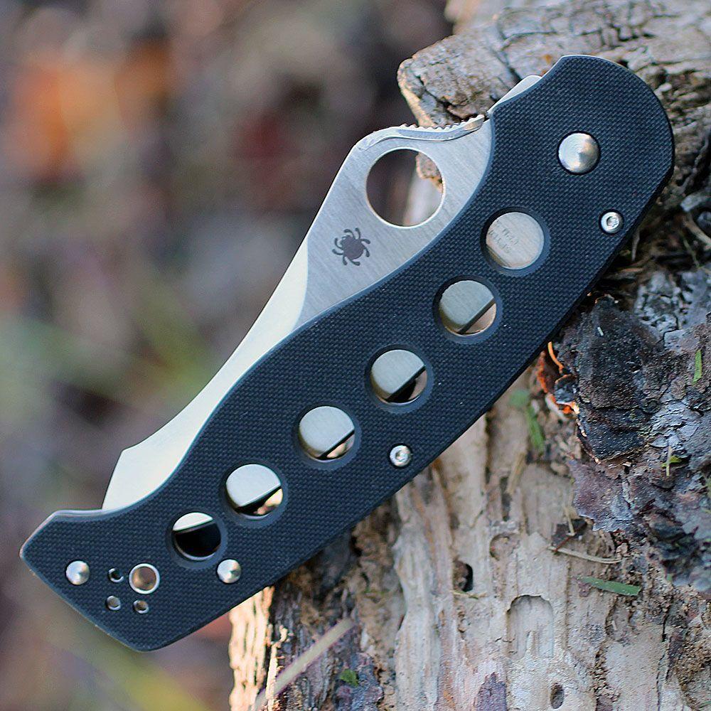 Фото 3 - Нож складной A.T.R.™ 2 Spyderco C70GP2, сталь CPM-S30V Satin Plain, рукоять стеклотекстолит G10, чёрный
