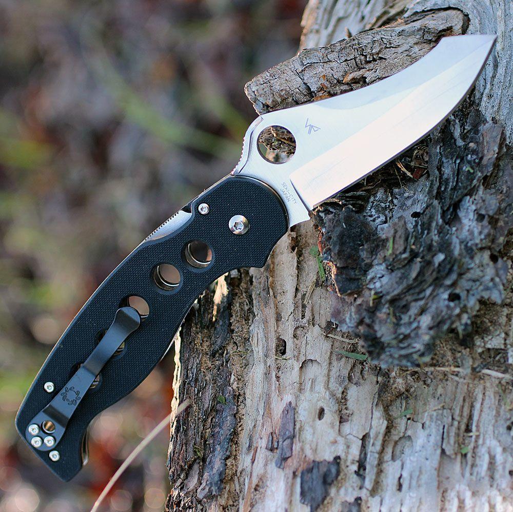 Фото 4 - Нож складной A.T.R.™ 2 Spyderco C70GP2, сталь CPM-S30V Satin Plain, рукоять стеклотекстолит G10, чёрный
