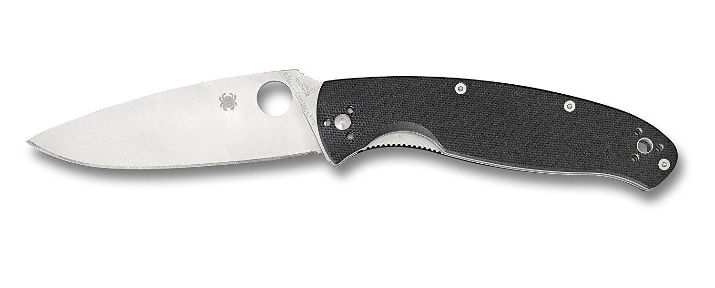 Фото 2 - Нож складной Resilience™ Spyderco C142GP, сталь 8Cr13MOV Satin Plain, рукоять стеклотекстолит G-10, чёрный