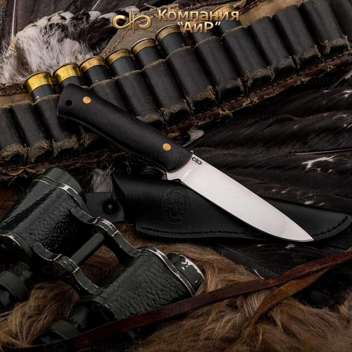 Нож разделочный АиР Стриж ЦМ, сталь М390, рукоять граб нож разделочный стриж цм дерево 100х13м аир