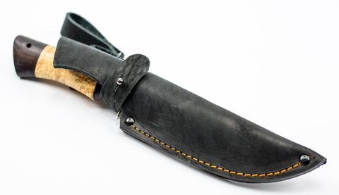Нож Ладья, сталь дамаск, рукоять карельская береза. Вид 6