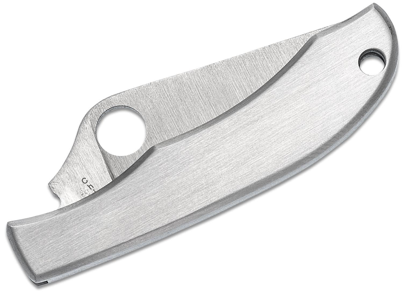 Фото 7 - Нож складной HoneyBee Stainless Spyderco 137P, сталь 3Cr Satin Plain, рукоять нержавеющая сталь