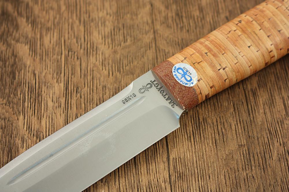 Нож разделочный Селигер береста, 95х18, АиР нож разделочный белуга береста аир