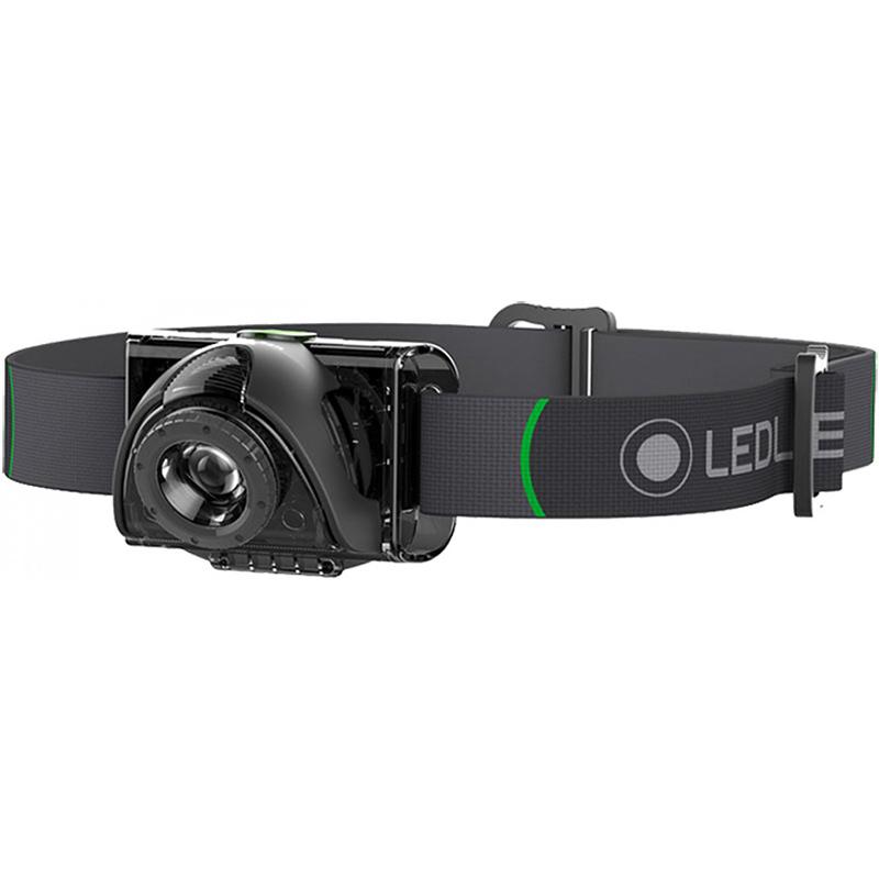 цена на Фонарь светодиодный налобный LED Lenser MH2, черный, 100 лм, 3-AAA