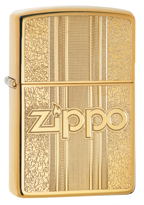 Зажигалка ZIPPO Classic с покрытием High Polish Brass, латунь/сталь, золот., 36x12x56 мм