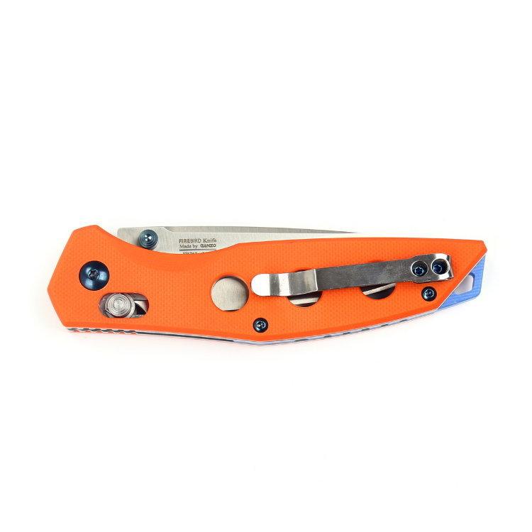 Фото 6 - Нож складной Firebird (by Ganzo), FB7621-OR,оранжевый