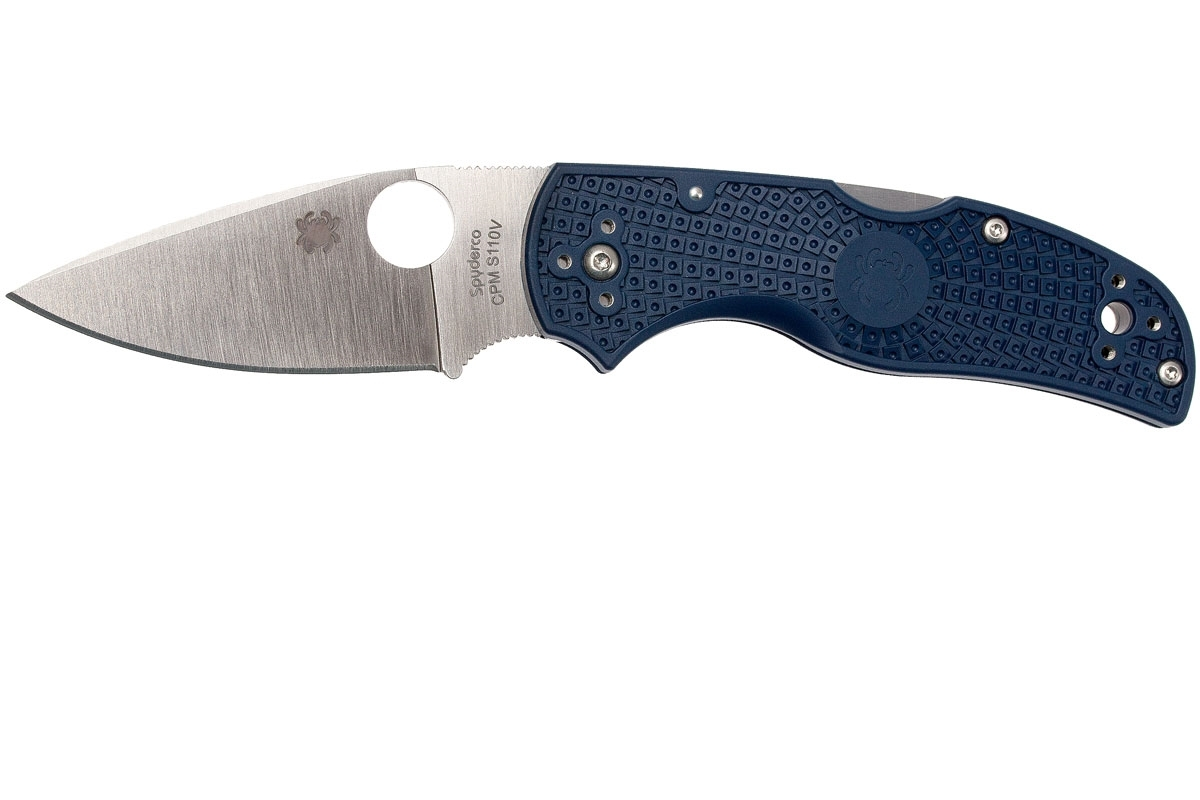 Фото 14 - Нож складной Native 5 - Spyderco 41PDBL5, сталь CPM® S110V Satin Plain, рукоять термопластик FRN, синий (Dark Blue)