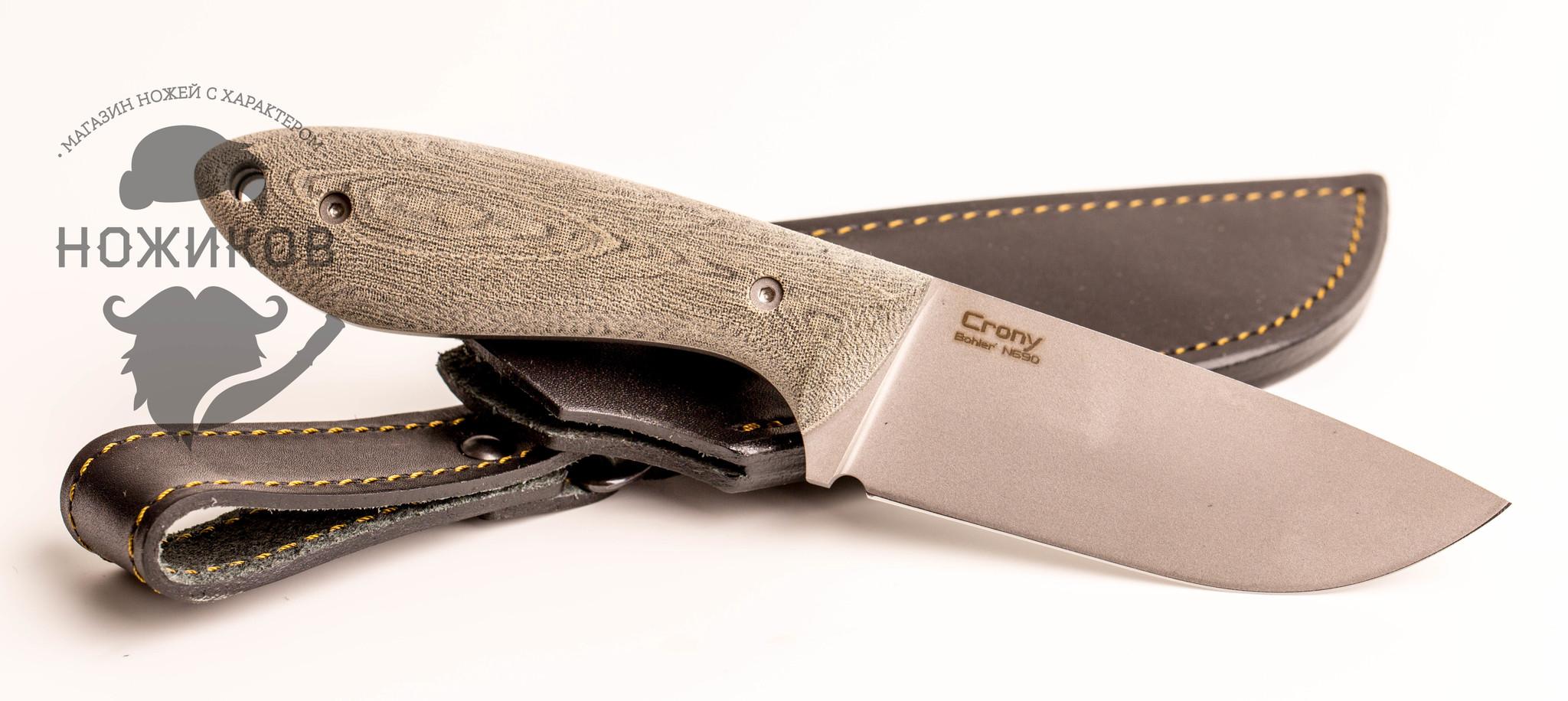Фото 4 - Нож Crony, микарта , N690 от N.C.Custom