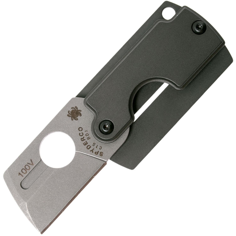 Складной нож-брелок Dog Tag Gen4 - Spyderco 188ALP, сталь Carpenter CTS™ - BD1 Stonewash Plain, рукоять алюминий цена