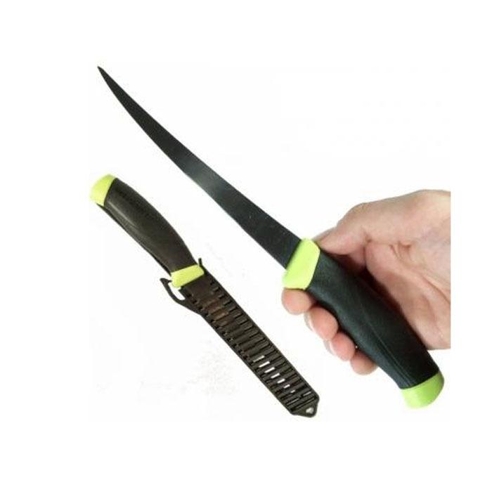 Фото 5 - Нож с фиксированным лезвием Morakniv Fishing Comfort Fillet 155, сталь Sandvik 12C27, рукоять резина/пластик