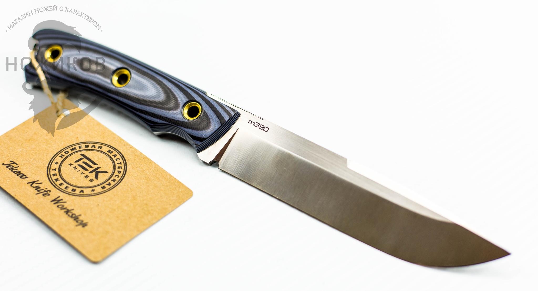 Туристический нож Shark Blue, сталь M390