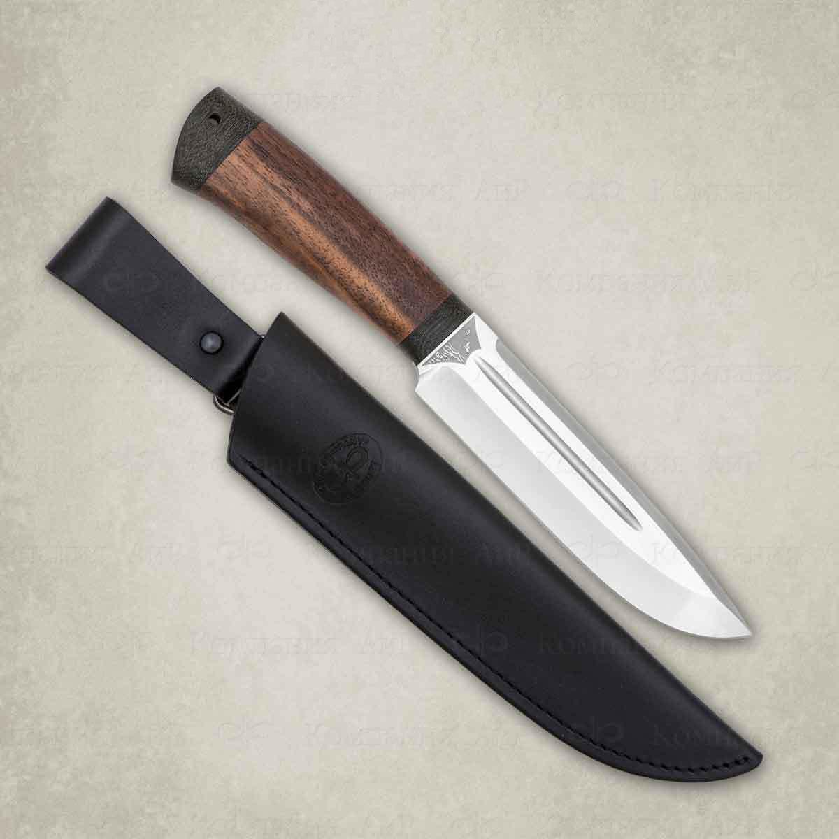 Нож разделочный АиР Селигер, сталь ЭП-766, рукоять дерево нож аир хазар сталь эп 766 рукоять дерево