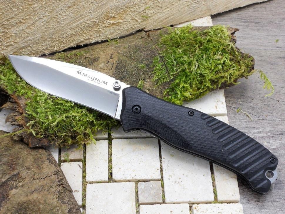 Фото 8 - Нож складной Magnum Buddy - Boker 01MB156, сталь 440A Satin Plain, рукоять стеклотекстолит G-10