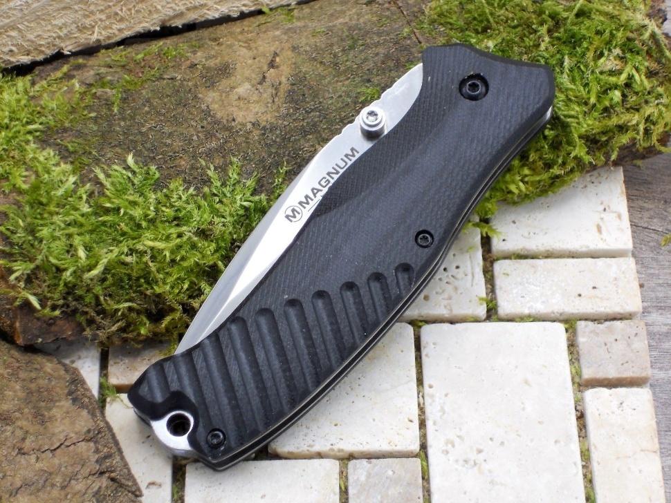 Фото 10 - Нож складной Magnum Buddy - Boker 01MB156, сталь 440A Satin Plain, рукоять стеклотекстолит G-10