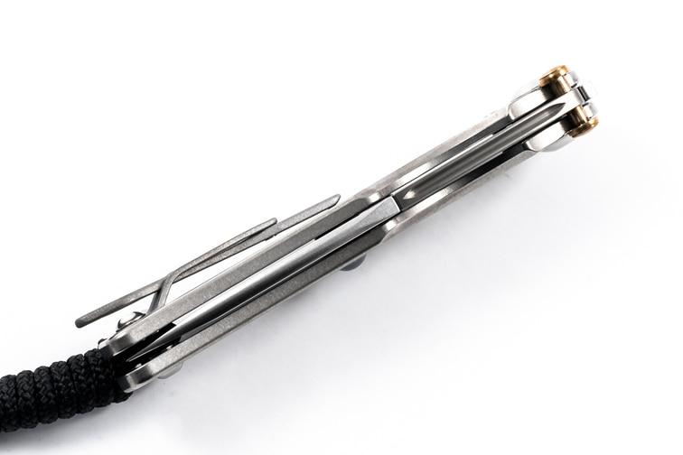 Фото 15 - Нож складной Chris Reeve Ti-Lock - Elemental, Hematite Cabochon, сталь CPM-S35VN, рукоять титан