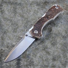Нож складной Hide Folder, Stag Scales, Crucible CPM® S30V™, Tommaso Rumici Design 7.5 см.