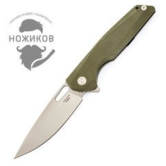 Складной нож Rikeknife RK802G Green, сталь 154CM, титан/G10